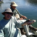Guide Curtis Bailey Shows Off Raleigh Eggers' Nice Rainbow Trout