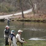 Winter trout fishing at Bennett Spring